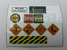 Lego City Town Village CUSTOM construction site. Traffic signs. STICKERS
