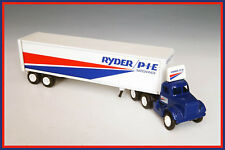 """1:64 WINROSS """"RYDER/P.I.E. NATIONWIDE"""" WHITE MOTOR CO. 9000 DAY CAB & 38' TRAILE"""