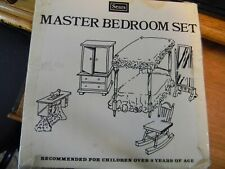 Vintage Rare Wood Doll House Master Bedroom Set  Sears, Roebuck and Co.   Taiwan