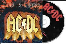 CD CARTONNE CARDSLEEVE 2 TITRES AC/DC HARD AS A ROCK DE 1995