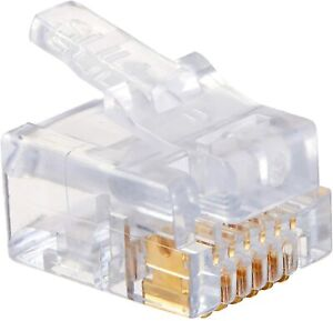 Platinum Tools 100026B EZ-RJ12/11 Connector, 100 Piece