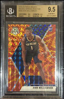 2019-20 PANINI MOSAIC ZION WILLIAMSON ORANGE REACTIVE PRIZM RC BGS 9.5 w/10 GEM