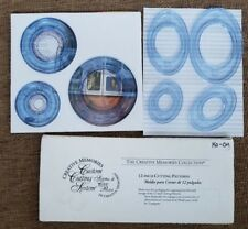 """New Creative Memories OVAL CIRCLE 12"""" STRAIGHT WAVY SWELL custom cutting system"""