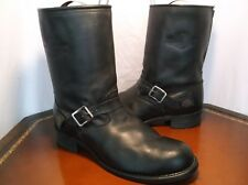Harley Davidson VTG USA made Motor Cycle Leather Zip up Boots Men's Sz. 13 US