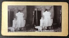 "Vintage Stereo-View Stereoscopic Photo: #A94: ""I'm Too Lazy To Dress"""