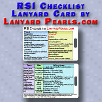 RSI Intubation Checklist Lanyard Badge Card