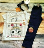 Gymboree 4T Spring Forward Kitty Copy Cat Top Ladybug Leggings Hair NWT Outlet