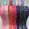 5Yards 38mm Printing Grosgrain Ribbon Dots Ribbon DIY Hair Bow Handmade Craft