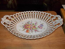 "12"" Oval DRESDEN Reticulated Fruit Basket"