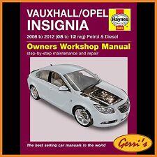 5563 Haynes Vauxhall/Opel Insignia (2008 - 2012) 08 to 12 Workshop Manual