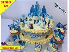 Frozen Disney Princess Personalise Cup Cake Scene Toppers Wafer Edible Custom