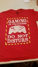 Gaming in Progress Do Not Disturb t shirt Size L Red