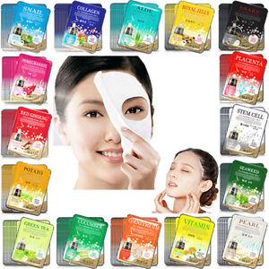 30PCS Facial Skin Care Face Mask Sheet Pack Essence Moisture Korea Cosmetics