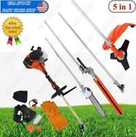 Multifunctional 5 in 1 52cc Chainsaw Brush Cutter Pole Saw Petrol Hedge Trimmer
