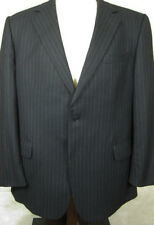 Brooks Brothers Flannel Wool Gray Stripe Made in Italy Suit 45R 40W
