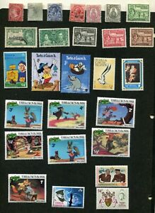 STAMP LOT OF TURKS AND TURKS AND CAICOS, MNH, MH AND USED
