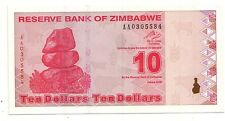 Zimbabwe 10 dollars 2009   FDS  UNC    pick 94    lotto 3640