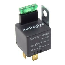 5-Pack 12V 5-Pin Relay with Built in Fuse 30A/40A Auto Metal Mounting Tab SPST