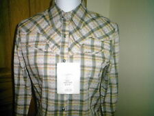 LADIES WESTERN SHIRT BY WRANGLER NEW WITH TAG SIZE LARGE LONG SLEEVES SNAPS