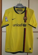 FC BARCELONA 2008-2009 AWAY FOOTBALL SHIRT JERSEY CAMISETA NIKE SIZE YOUNG XL