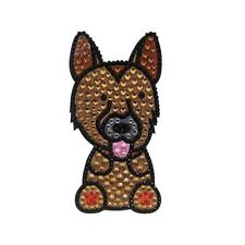 German Shepherd Dog Rhinestone Glitter Jewel Phone Ipod Iphone Sticker Decal