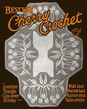 Bestway #233 c.1925 Vintage Cherry Pattern Filet Crochet Lace Design