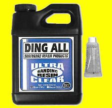 Ding All Polyester Sanding Resin w/ Hardener 1/2 Pint Surf Board repair fix