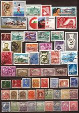 HONGRIE 57 timbres avec anciens oblitérés,sans doubles .Sujets divers    159T5