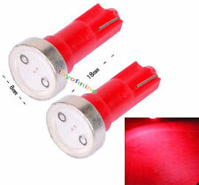2X T5 74 70 73 coches SMD LED Cuña Gauge Dashboard Bombilla Roja DC 12V