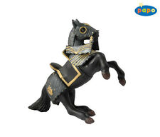 Black Horse with Armor 14 cm Knight and Castles Papo 39276