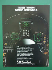 4/1986 PUB NORTHROP F-20 TIGERSHARK US AIR FORCE USAF AVIONICS COCKPIT AD