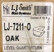 Lj Smith Stair Systems Lj-7011-O Oak Handrail Level Quarterturn, New