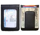 Men's Leather Wallet Credit Card ID Holder Money Clip front pocket mens wallet