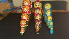 Beautiful 15 Piece Matryoshka Wooden Russian Nesting Stacking Dolls