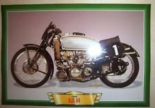 AJS V4 500 VINTAGE CLASSIC MOTORCYCLE RACE BIKE 1930'S PICTURE PRINT 1939 RACER