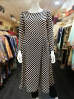 Womens Ladies Boho Long Sleeve Dress Midi Swing Skater Party Top Plus Size 8-26