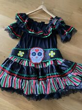 Preowned Ladies Day Of The Dead Fancy Dress Size XL