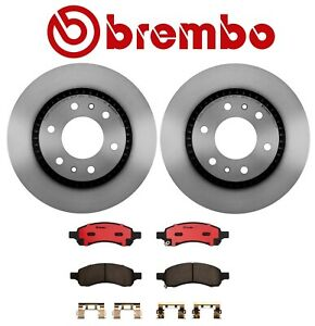 For Buick Chevy GMC Front Brake Kit Vented Disc Rotors Ceramic Pads Brembo