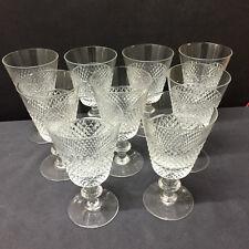 6 verres à eau Mod.STATE taille diamant  H: 147 mm  VAL SAINT LAMBERT