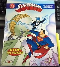 SUPERMAN COLORING BOOK Stop The Presses NEW activity Kids WB 1998