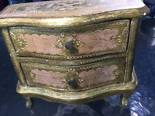 The Best Vintage Italian Florentine Jewelry Chest~Dresser Gold With Pink Color