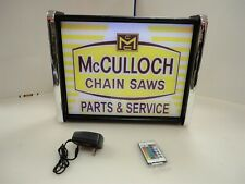 McCulloch Chain Saw Parts Service LED Display light sign box