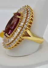 $3,200 18K YELLOW GOLD 925 SIZ 9 HOLLYWOOD CELEBRITY ALEXANDRITE DIAMOND RING!