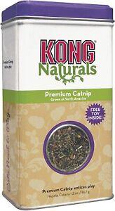 Kong Natural Catnip Tin Cat Calming Premium Quality Resealable Tin Two Sizes