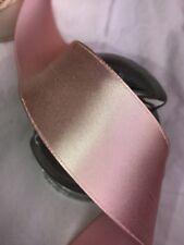 "20 yard 1.5"" wide roll Pale Pink rayon trim vintage single faced satin ribbon"