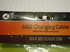 NEW MOTOCADDY USB CHARGING CABLE (USB TO MINI-USB connection) ~ COLOUR ~ BLACK