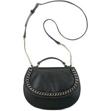 Nine West Off The Chain Crossbody Black Gold Leather Bag Purse $69