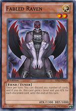 3x Yugioh SDLI-EN020 Fabled Raven Common Card