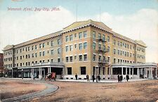 Michigan postcard Bay City Wenonah Hotel