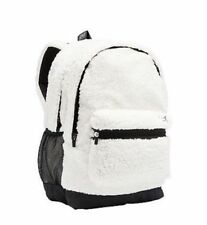 ff5704184ab9 Victorias Secret PINK Sherpa Campus Backpack White Soft Full Size NWT